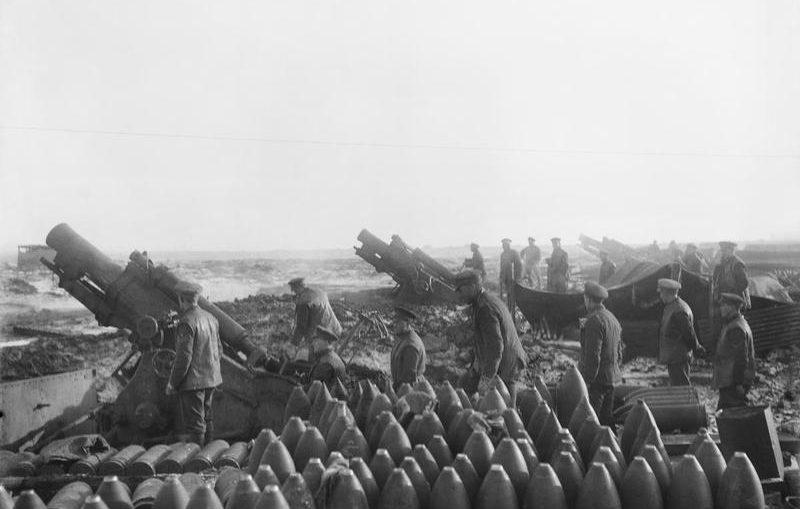 প্রথম বিশ্ব যুদ্ধ চলাকালীন ব্যবহৃত অস্ত্র