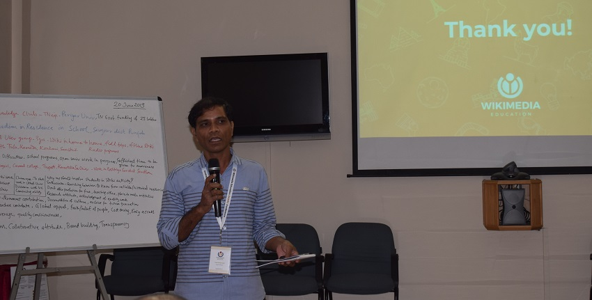 Anup Sadi at Wikimedia Education Saarc Conference